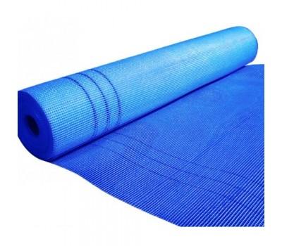 Штукатурная сетка фасадная 145 г/м² WORKS синяя, 5ммх5мм, рулон 1м*50м