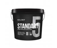 Краска интерьерная матовая латексная Kolorit Standart 5 (Стандарт) База А, 9л