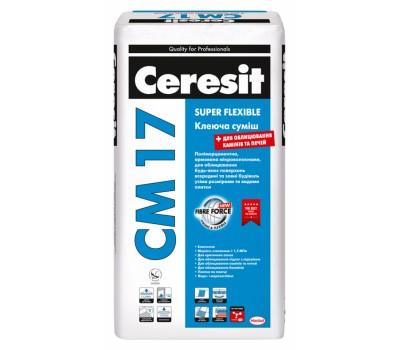 Эластичная клеящая смесь CERESIT CM-17, 25кг