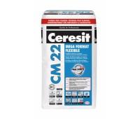 Високоэластичная клеящая смесь для плитки CERESIT CM-22 Mega Format Flexible