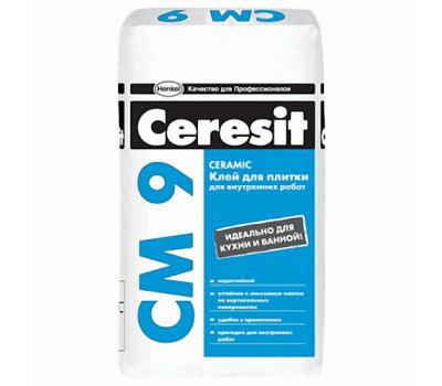 Клей для керамической плитки CERESIT СМ-9 Standard, 25кг