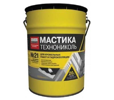 Мастика кровельная и гидроизоляционная битумно-полимерная Техномаст №21, 20кг