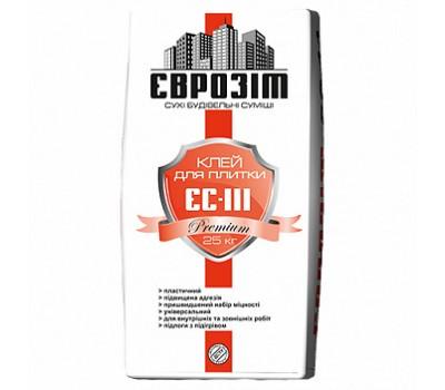 Клей для плитки ЄС-111 Premium, 25кг