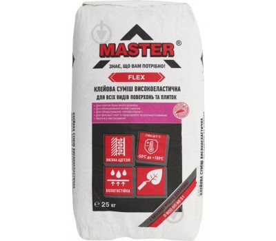 Клей для облицовки каминов и теплых полов MASTER FLEX, 25кг