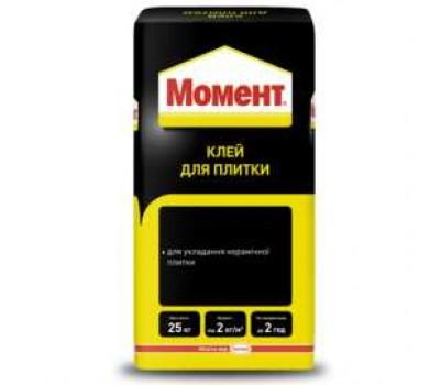 Клеящая смесь для плитки МОМЕНТ, 25кг