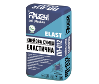 Клей для плитки с повышеной адгезией ПОЛИПЛАСТ ПП-012 ELAST, 25кг