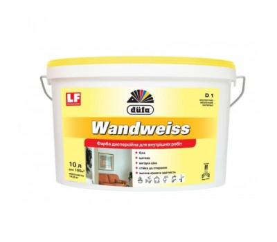 Краска дисперсионная DUFA Wandweiss D1, 10л