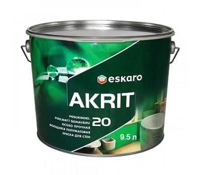 Краска Eskaro Akrit 20 белый 9,5л
