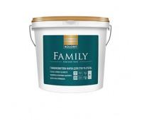 Краска матовая латексная гипоаллергенная на акриловой основе Kolorit FAMILY база А, 9л