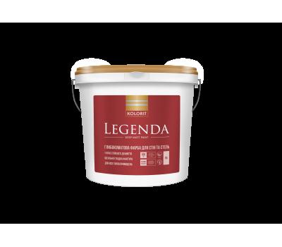 Краска интерьерная матовая латексная на акриловой основе Kolorit Legenda Люкс база А, 9л