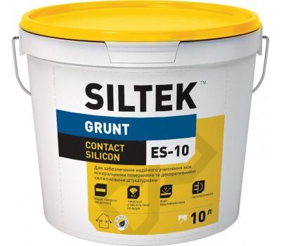 Грунтовка-Краска силиконовая Contact Silicon SILTEK ЕS-10/10л, база ЕА