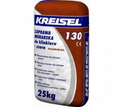 Смесь для кладки клинкерного кирпича Kreisel 130 GRAU ЗИМА, 25кг