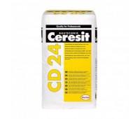 Полимерная цементная шпаклевка до 5мм CERESIT CD-24, 25кг