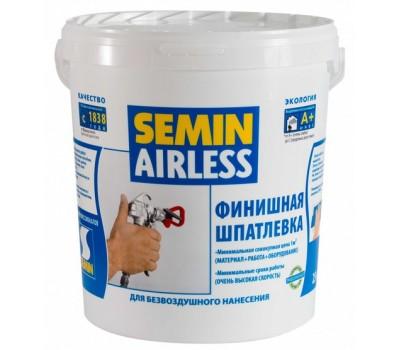 Финишная шпаклевка безвоздушного распыления SEMIN AIRLESS 3 в 1, 25кг