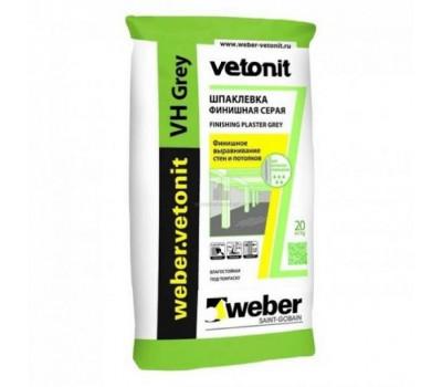 Шпаклевка Vetonit VH white водостойкая на цементной основе, 20кг