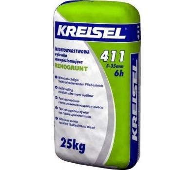 Смесь для полов самовыравнивающая 5-35мм Kreisel 411, 25кг