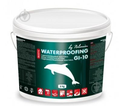 Однокомпонентная гидроизоляционная мастика ПОЛІМІН GI-10 acrylic waterproofing mastic 6 kg / 0,480