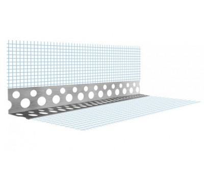 Профиль угловой перфорированный с сеткой алюминиевый, 3м, 7х7см